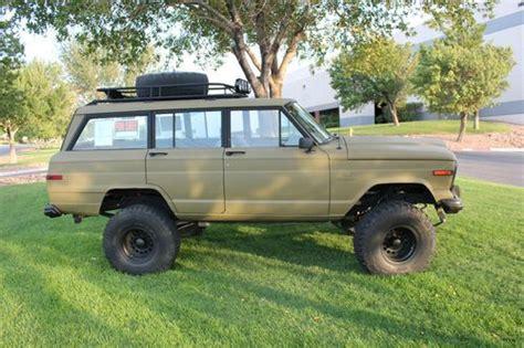 jeep wagoneer lifted buy used 1984 jeep grand wagoneer 4x4 custom lift and