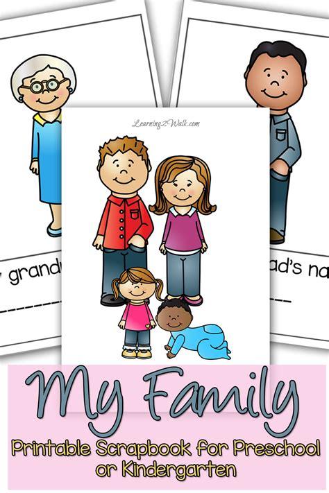 My Family Preschool Theme Scrapbook