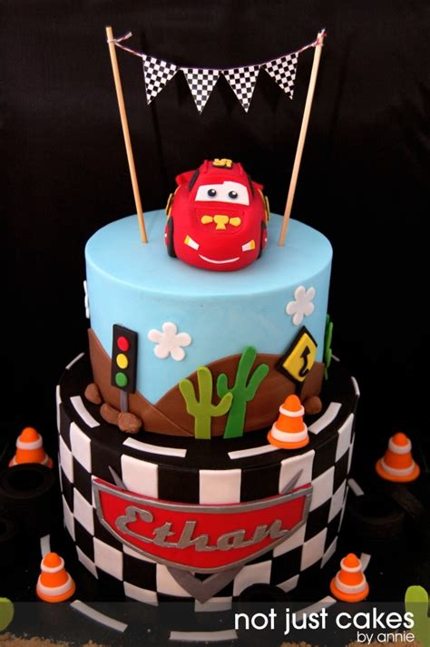 cars themed cake  ethan cakecentralcom