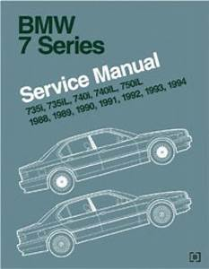 Bmw 7 Series E32 Service Manual 1988