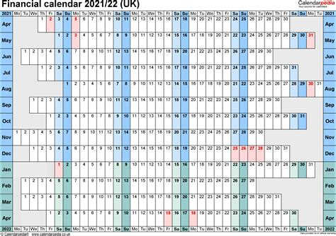 financial calendars uk microsoft word format