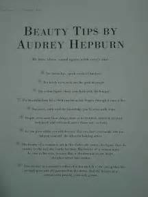 Beauty Tips by Audrey Hepburn