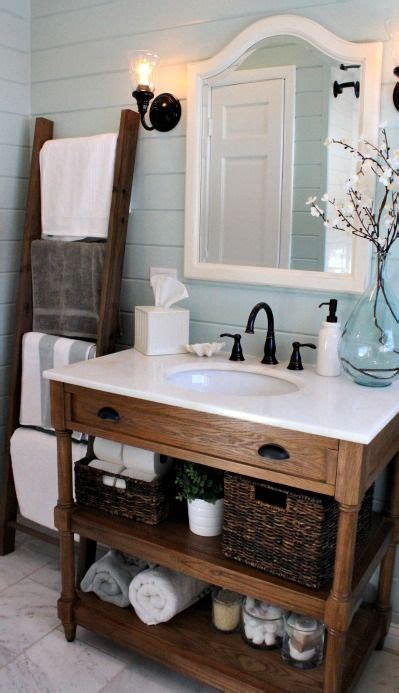 Beautiful Bathroom Perfectly Organized & Decorated Via