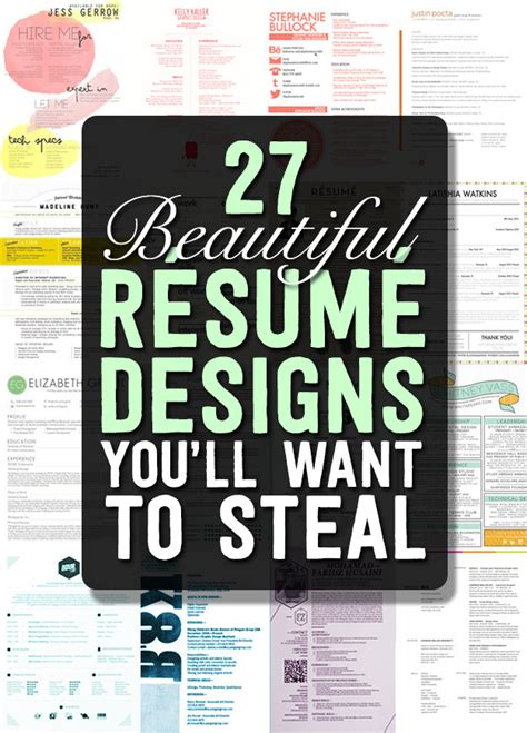 27 beautiful resume designs 27 beautiful resume designs you ll want to my career info
