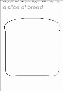 slice of bread toast sandwich outline templategif 690 With sandwich template for writing