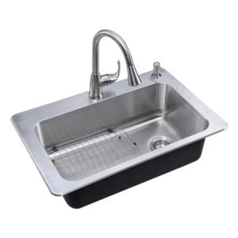 glacier bay kitchen sink glacier bay all in one drop in stainless steel 33 in 2 3755