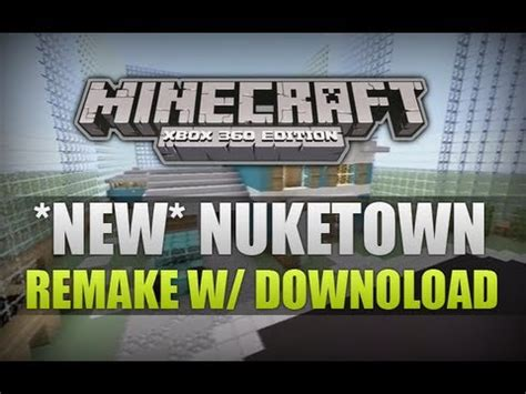 "*new* ""minecraft Xbox 360""  Nuketown Remake Mini Game W"