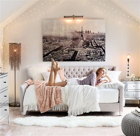 young woman bedroom and string lights starry string light star lights on silver wire