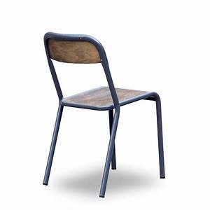 Chaise D école : chaise d 39 cole vintage en m tal et bois maitresse par drawer ~ Teatrodelosmanantiales.com Idées de Décoration