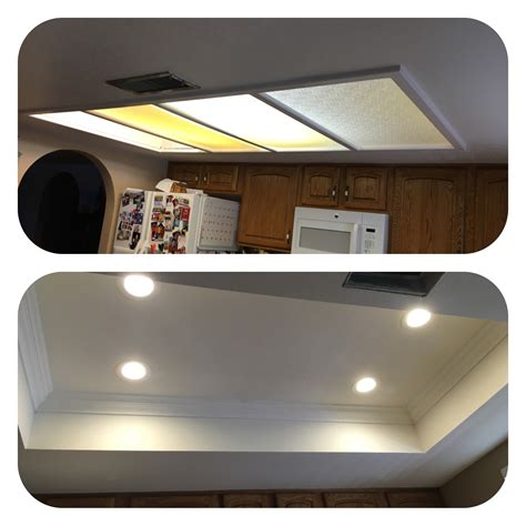 installing led lights in ceiling az recessed lighting kitchen conversion one of our great