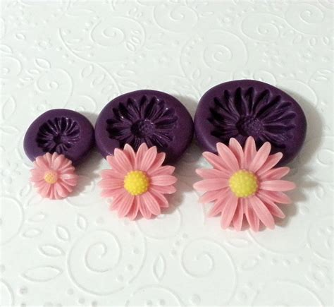 silicone molds daisy flower set  mm fondant cake