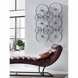 wall art company bicycle bike wheels decoration recycled With kitchen cabinets lowes with bicycle wheel wall art