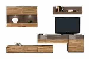 Tv Wand Kaufen : wohnwand feel ii wohnzimmerwand tv wand massivholz eiche by arte m farbe eiche cubanit kaufen ~ Watch28wear.com Haus und Dekorationen