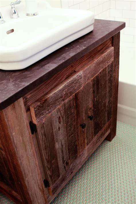 Reclaimed Bathroom Vanity by White Reclaimed Wood Farmhouse Vanity Diy Projects