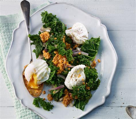 ei kochen mit eierkocher federkohl linsen salat mit pochiertem ei annemarie wildeisen s kochen