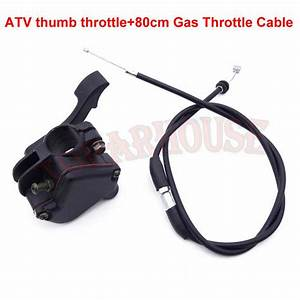 Thumb Throttle Control Cable Fit 50 70 90 110 125cc Atv
