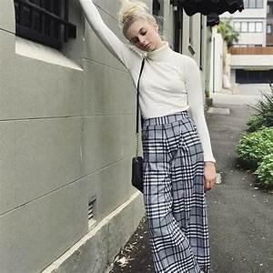 tenue chic avec une jupe culotte a carreaux taaora With jupe a carreaux noir et blanc