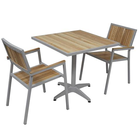 table et chaise de jardin en bois awesome table de jardin aluminium et chaise images
