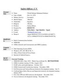 safety manager resume objective walid soliman safety officer cv
