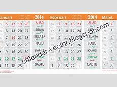 Template Kalender 2014 MAS201402 dilengkapi kalender