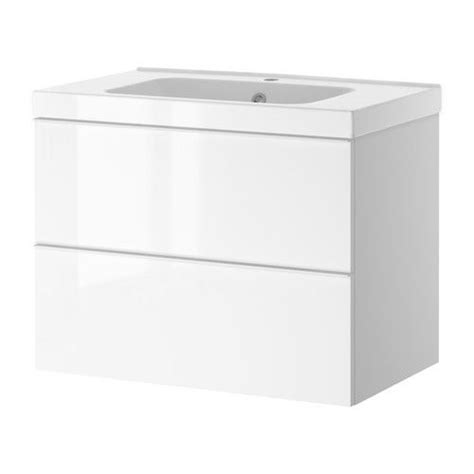 godmorgon odensvik sink cabinet with 2 drawers white