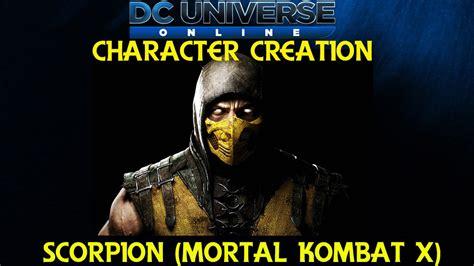 Dcuo Character Creation Scorpion Mortal Kombat X