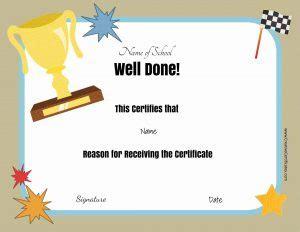 school certificates awards