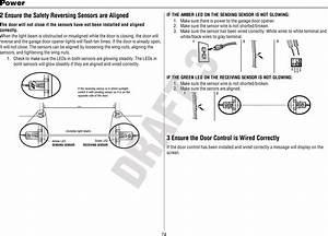 Garage Door Opener Safety Reversing Sensor Wiring Diagram