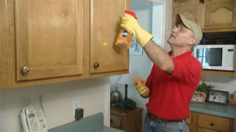 How To Remove Kitchen Cupboards by How To Remove Grease From Kitchen Cabinets Cleaning