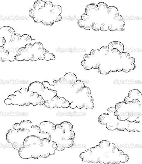 hand drawn clouds stock vector  makeitdouble