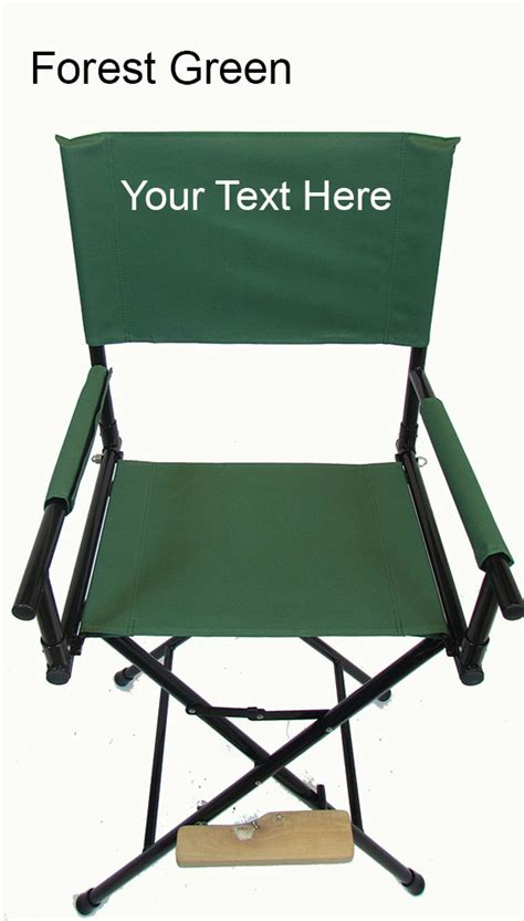 embroidered personalized 30 inch steel director s chair by