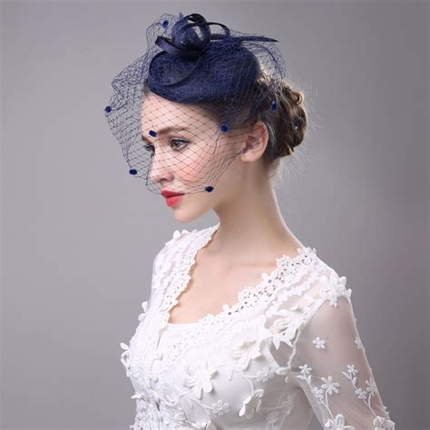 Classic Ladies Wedding Fascinator And Hats Veil Dotted