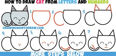 draw  cute cartoon cat completely  letters