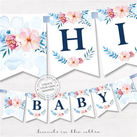 floral alphabet banner diy template printable