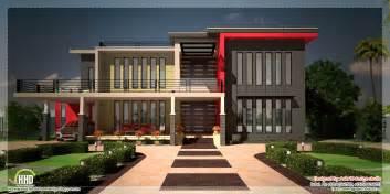 contemporary plan beautiful contemporary luxury villa with floor plan kerala home design and floor plans