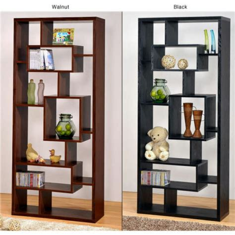 Black Wooden Bookcases by Black Wood Bookcase Display Cabinet Book Shelf Ebay