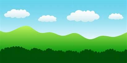 Landscape Sky Hills Bushes Clip Scene Nature