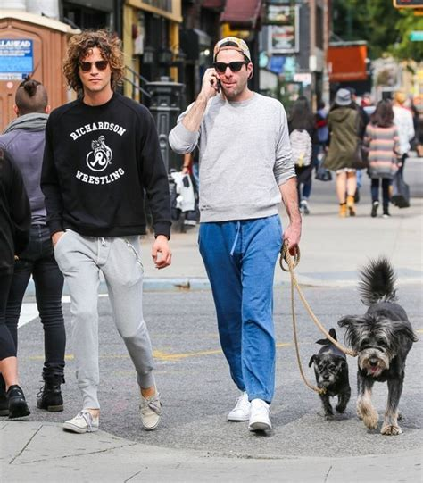 zachary quinto downsizing couple zachary quinto and miles mcmillan walk their dogs