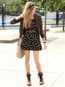 Cute Combat Boots with Dress