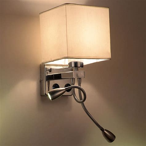 bedside sconces modern led cloth wall l wall sconce light hallway