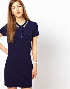 Fred perry fred perry robe polo avec bordures a double for Robe fred perry