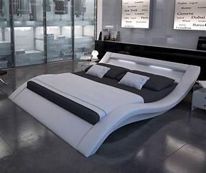 Modernes Bett 180x200 : polsterbett leonas 200x200 cm weiss mit beleuchtung moderne schlafzimmerm bel bett ~ Watch28wear.com Haus und Dekorationen