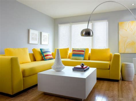Living Room Yellow Sofa by Grey Living Room With Yellow Sofa