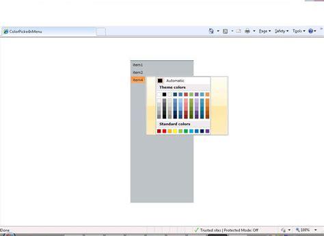 Control Template Context Menu by Color Picker In Context Menu Colorpicker Ui For