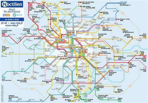 Carte Métro Rer Banlieue by Plan Des Ratp Banlieue
