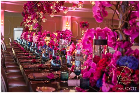 fuchsia wedding table decorations wedding color inspiration pink and navy lots of susan