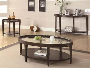 Dark cherry finish modern coffee table w glass top options for Modern cherry coffee table