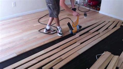 Install Nail  Unfinished Hardwood Floors