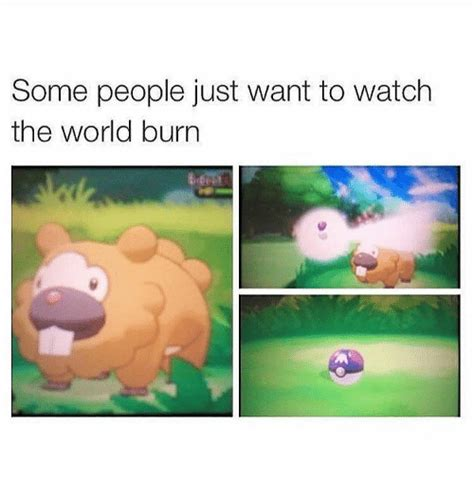 Some People Just Want To Watch The World Burn  Meme On Sizzle