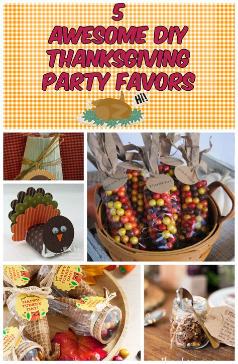 awesome diy thanksgiving party favors discountqueenscom